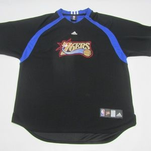 Adidas 76'ers Sixers Black Jersey Short Sleeve XL